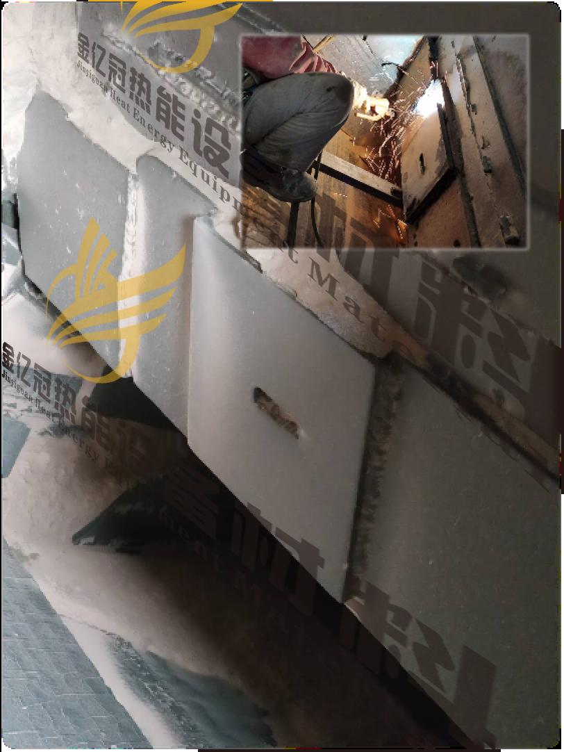 金亿冠FM520水泥厂入磨溜槽现场使用效果对比