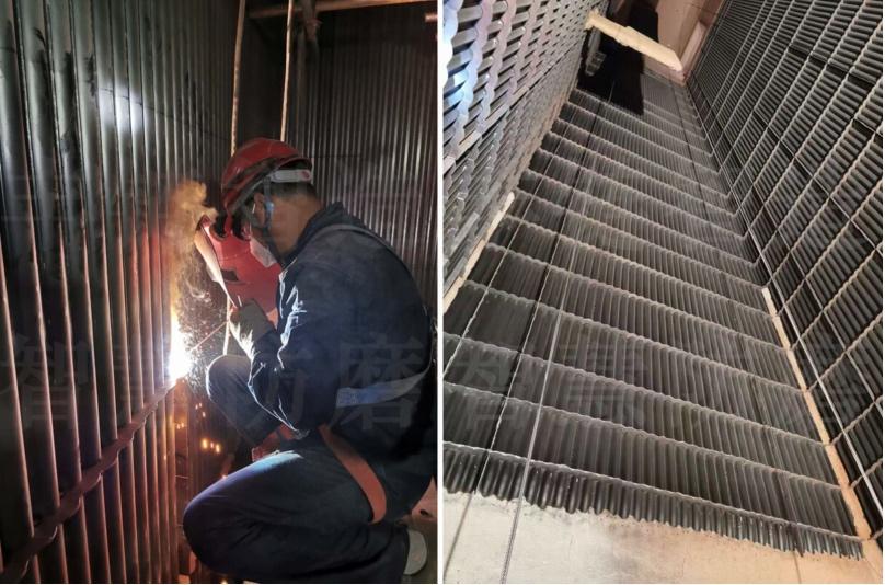 CFB循环流化床锅炉水冷壁格珊经纬导流板多维融合防磨技术